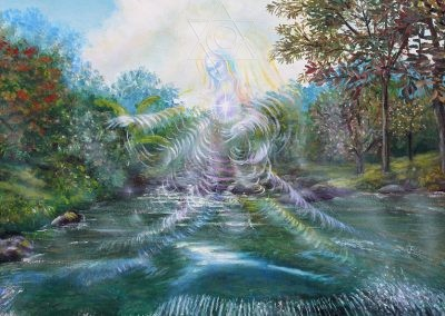 Senhora das Águas - 1994 - óleo sobre tela - 60 x 50 cm