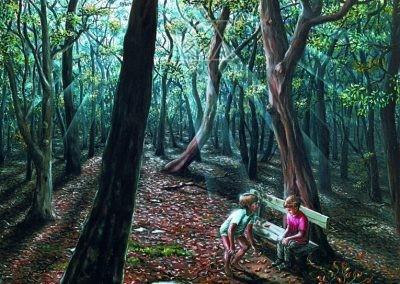 Convite à Alegria - 1995 - óleo sobre tela - 80 x 80 cm