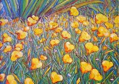 Florada Amarela  - 2003 - acrílico sobre tela - 50 x 80 cm
