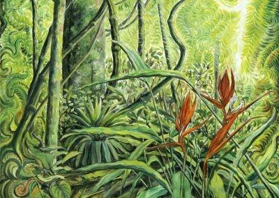 Heliconia  - 2006 - óleo sobre linho - 24 x 24 cm