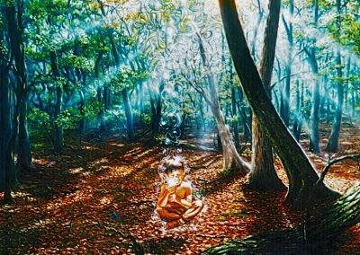 O Menino - 1995 - óleo sobre tela - 80 x 80 cm